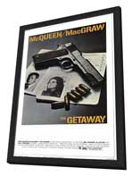 The Getaway - 27 x 40 Movie Poster - Style B - in Deluxe Wood Frame