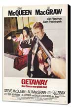 The Getaway - 27 x 40 Movie Poster - Style C - Museum Wrapped Canvas
