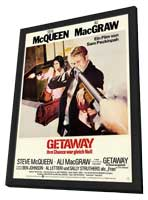 The Getaway - 11 x 17 Movie Poster - German Style A - in Deluxe Wood Frame