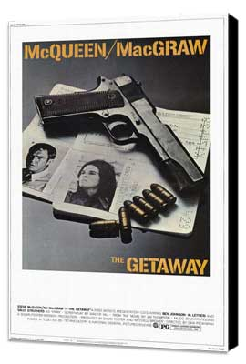 The Getaway - 27 x 40 Movie Poster - Style B - Museum Wrapped Canvas