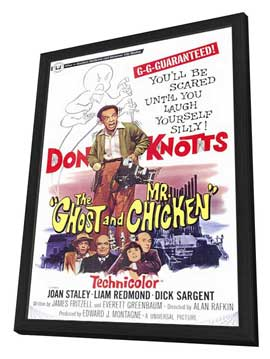 The Ghost and Mr. Chicken - 11 x 17 Movie Poster - Style A - in Deluxe Wood Frame