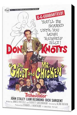 The Ghost and Mr. Chicken - 27 x 40 Movie Poster - Style A - Museum Wrapped Canvas