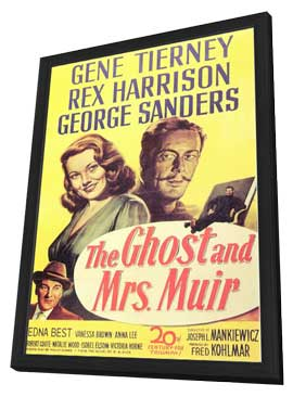 The Ghost and Mrs. Muir - 11 x 17 Movie Poster - Style A - in Deluxe Wood Frame