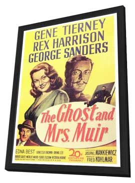 The Ghost and Mrs. Muir - 27 x 40 Movie Poster - Style A - in Deluxe Wood Frame