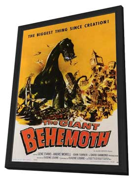 The Giant Behemoth - 11 x 17 Movie Poster - Style A - in Deluxe Wood Frame