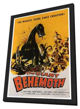 The Giant Behemoth - 27 x 40 Movie Poster - Style A - in Deluxe Wood Frame