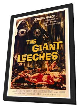 The Giant Leeches - 27 x 40 Movie Poster - Style A - in Deluxe Wood Frame