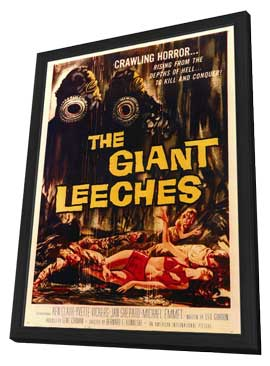 The Giant Leeches - 11 x 17 Movie Poster - Style A - in Deluxe Wood Frame