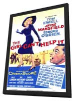 The Girl Can't Help It - 11 x 17 Movie Poster - Style A - in Deluxe Wood Frame