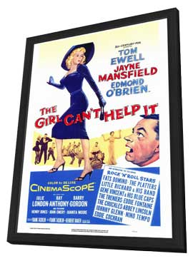 The Girl Can't Help It - 27 x 40 Movie Poster - Style A - in Deluxe Wood Frame