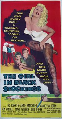 The Girl in Black Stockings - 14 x 36 Movie Poster - Insert Style A