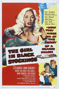 The Girl in Black Stockings - 11 x 17 Movie Poster - Style B