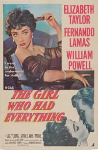 The Girl Who Had Everything - 43 x 62 Movie Poster - Bus Shelter Style A