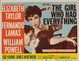 The Girl Who Had Everything - 11 x 17 Movie Poster - Style B
