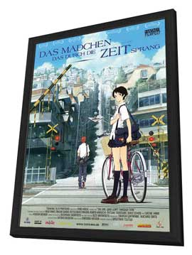 The Girl Who Leapt Through Time - 27 x 40 Movie Poster - German Style A - in Deluxe Wood Frame