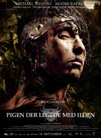 The Girl Who Played with Fire - 11 x 17 Movie Poster - Danish Style A