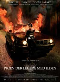 The Girl Who Played with Fire - 11 x 17 Movie Poster - Danish Style B