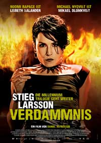 The Girl Who Played with Fire - 11 x 17 Movie Poster - German Style A