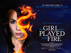 The Girl Who Played with Fire - DS British Quad 30 x 40 - Style A