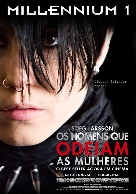 The Girl with the Dragon Tattoo - 11 x 17 Movie Poster - Portuguese Style A