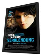 The Girl with the Dragon Tattoo - 11 x 17 Movie Poster - Swiss Style A - in Deluxe Wood Frame