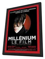The Girl with the Dragon Tattoo - 27 x 40 Movie Poster - French Style A - in Deluxe Wood Frame