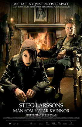 The Girl with the Dragon Tattoo - 11 x 17 Movie Poster - Swedish Style A