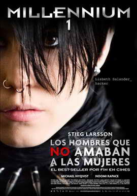 The Girl with the Dragon Tattoo - 27 x 40 Movie Poster - Spanish Style A