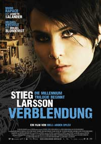 The Girl with the Dragon Tattoo - 11 x 17 Movie Poster - German Style A