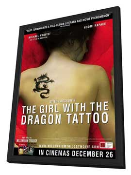 The Girl with the Dragon Tattoo - 27 x 40 Movie Poster - New Zealand's Style A - in Deluxe Wood Frame