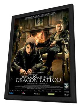 The Girl with the Dragon Tattoo - 27 x 40 Movie Poster - Style A - in Deluxe Wood Frame
