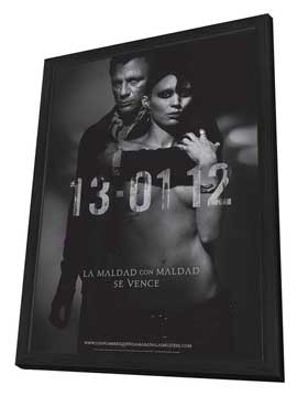The Girl with the Dragon Tattoo - 27 x 40 Movie Poster - Spanish Style A - in Deluxe Wood Frame
