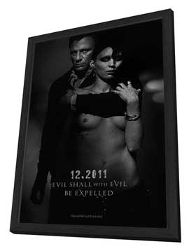 The Girl with the Dragon Tattoo - 27 x 40 Movie Poster - Style B - in Deluxe Wood Frame