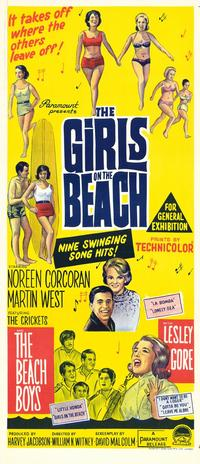 The Girls On the Beach - 27 x 40 Movie Poster - Style B