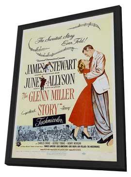 The Glenn Miller Story - 11 x 17 Movie Poster - Style E - in Deluxe Wood Frame