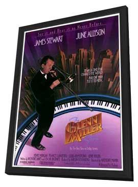 The Glenn Miller Story - 27 x 40 Movie Poster - Style B - in Deluxe Wood Frame