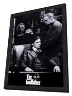 The Godfather - 27 x 40 Movie Poster - Style I - in Deluxe Wood Frame