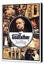The Godfather - 27 x 40 Movie Poster - Style A - Museum Wrapped Canvas