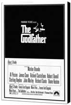 The Godfather - 27 x 40 Movie Poster - Style B - Museum Wrapped Canvas