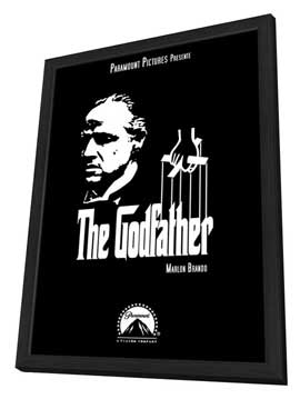 The Godfather - 11 x 17 Movie Poster - Style U - in Deluxe Wood Frame