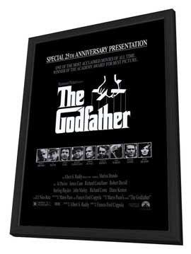 The Godfather - 27 x 40 Movie Poster - Style K - in Deluxe Wood Frame