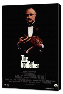 The Godfather - 11 x 17 Movie Poster - Style O - Museum Wrapped Canvas