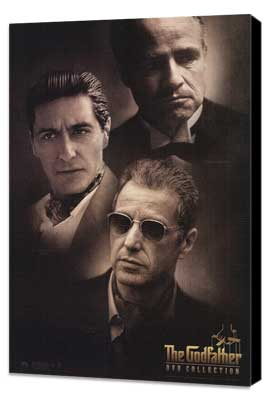 The Godfather - 11 x 17 Movie Poster - Style Q - Museum Wrapped Canvas