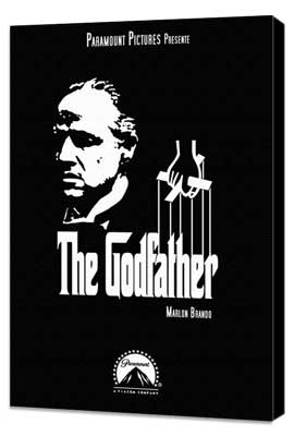 The Godfather - 11 x 17 Movie Poster - Style U - Museum Wrapped Canvas