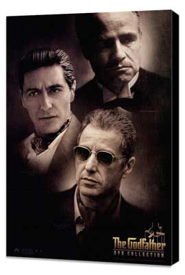 The Godfather - 27 x 40 Movie Poster - Style C - Museum Wrapped Canvas
