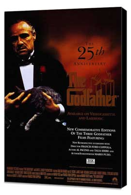 The Godfather - 27 x 40 Movie Poster - Style D - Museum Wrapped Canvas