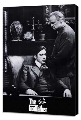 The Godfather - 27 x 40 Movie Poster - Style I - Museum Wrapped Canvas