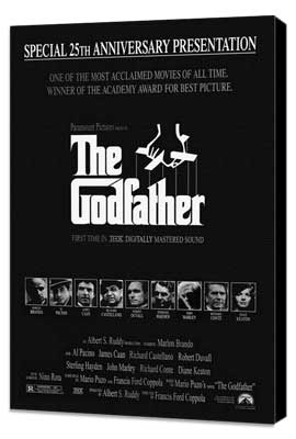 The Godfather - 27 x 40 Movie Poster - Style E - Museum Wrapped Canvas