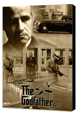 The Godfather - 27 x 40 Movie Poster - Style T - Museum Wrapped Canvas