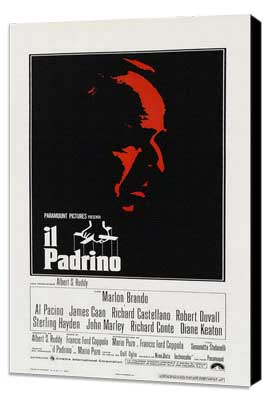The Godfather - 20 x 40 Movie Poster - Italian Style A - Museum Wrapped Canvas
